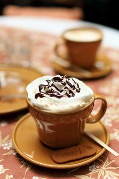 "Where did the term ""Mocha"" come from?  1733, from Mocha, Red Sea port of Yemen, from which coffee was exported. Meaning ""mixture of coffee and chocolate"" first recorded 1849. As a shade of dark brown, it is attested from 1895. (Source: Online Etymology Dictionary)"