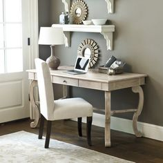 Clermont Desk: Great feminine desk for a master bedroom or small study/gift wrap room!! Love the style, in my opinion this look NEVER loses its chicness!