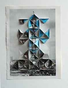 ::origami meets collage by abigail reynolds. Reference to paper cutouts Origami, Inspiration Art, Image 3d, Graffiti, Photocollage, Gcse Art, Grafik Design, Art Plastique, Art Education