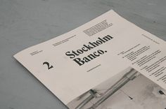 Stockholm Banco on Behance
