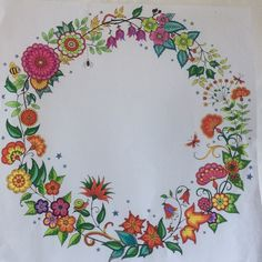 Secret Garden - This wreath is in Christmas colours
