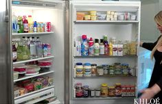 Khloe Kardashian's fridge has a lot of food in it � including 9 sticks of butter -- take a look here