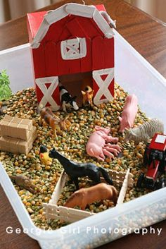 Love changing out sensory bins and activities to match themes! Farm theme is so easy to do!Tap the link to check out great fidgets and sensory toys. Check back often for sales and new items. Happy Hands make Happy People! Sensory Boxes, Sensory Table, Sensory Play, Farm Sensory Bin, Sensory Diet, Farm Activities, Preschool Activities, Preschool Farm, Babysitting Activities