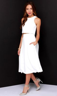On Your Behalf Ivory Two-Piece Dress