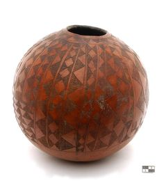 Africa | Calabash vessel ~ agwey ~  from the Anyua people of the Otalo region of Sudan | 20th century