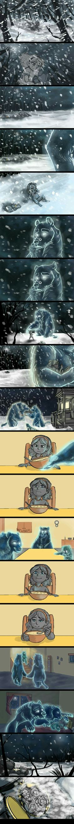 Goldilocks- Storyboard Project by on DeviantArt - feels - Funny Triste Disney, Comics Story, Cute Stories, Short Stories, Short Comics, Funny Comics, Storyboard, Cute Art, Comic Strips