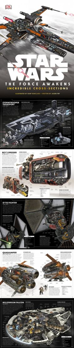 The Incredible Cross-sections of Star Wars Vehicles (by Jason Fry & Kemp Remillard)