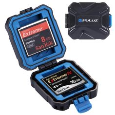 [$2.48] PULUZ 9 in 1 Memory Card Case for 2XQD + 2CF + 2TF + 3SD Card