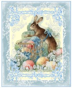 BunnyWithEggs Easter Collage