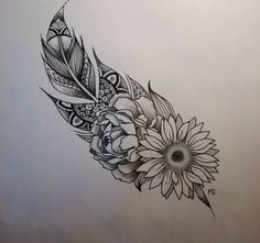 Mandala feather, this side of the feather shows the delicate side and the trust of someone who blossoms over time