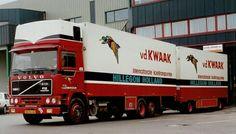 VOLVO F 12 II topsleeper met koelaanhanger van Van der Kwaak in Hillegom Road Transport, Semi Trailer, Volvo Trucks, Heavy Equipment, Cars And Motorcycles, Tractors, Mercedes Benz, Transportation, Van