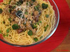 Bloc de recetas: Espagueti con salsa de setas
