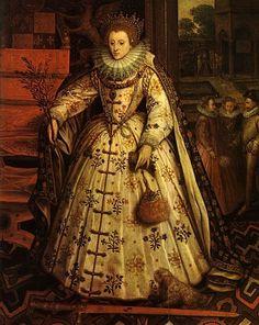 ebc14590427 Marcus Gheeraerts the Younger (Маркус Герартс Младший   Портреты.Elizabeth  I  The Peace Portrait