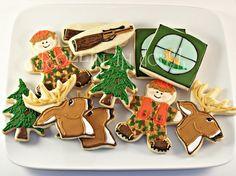 Deer hunting cookies for Rhett