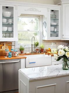 Decorating Kitchens Butcher Block Kitchen 156 Best Ideas Images In 2019 Farmhouse Style Here S How A Nebraska Homeowner Modernized Her Without Losing The Classic Country Charm Http