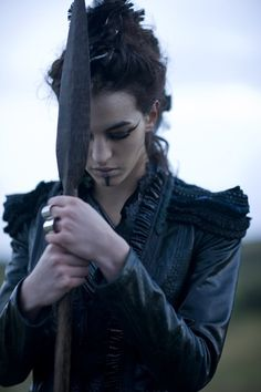 This gorgeous, atmospheric photo reminds me eerily of Fallon, right down to the jacket she's wearing ...