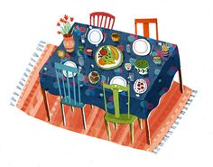 dinner table by Lizzy Stewart, via Flickr