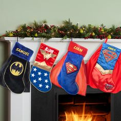 Superman, Supergirl, Batman or Wonder Woman Personalized Christmas Stocking, Multicolor christmasopenhouse Wooden Crates Christmas, Wooden Christmas Tree Decorations, Personalized Christmas Ornaments, Christmas Clock, Christmas Mood, Felt Christmas, Christmas Countdown, Unique Funny Gifts, Family Christmas Stockings