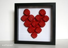 Alittlehut.com's recycle project: Use an egg carton and turn it into a Valentine's day masterpiece!