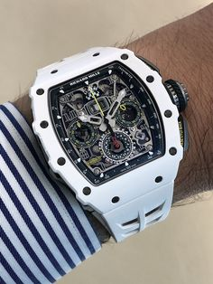 Le Mans Classic is an event of extreme importance for Richard Mille. At each edition, the watch brand unveils a commemorative piece, but its commitment goe G Shock Watches, Rolex Watches, Wrist Watches, Swiss Luxury Watches, Luxury Watches For Men, Richard Mille, Luxury Watch Brands, Beautiful Watches, Luxury Jewelry