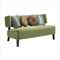 I love the modern, but vintage look of this couch.
