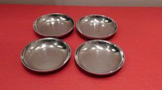 Chase Brass and Copper 4 Individual Ashtrays | eBay