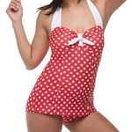 Popina Swimwear :  The Grace is our classic 1950's one piece that is as timeless as it is flattering. This distinctive Retro Suit features princess seaming, a front panel, and a shelf bra that can accomodate up to an E cup. Made in the USA.  People who like this also like Jantzen Swimwear.
