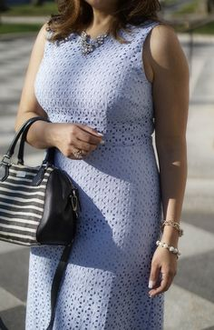 Starting my week w/spring vibes, an eyelet in serenity @anntaylor