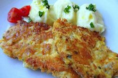 Turkey cutlets in cheese coat NejRecept. Turkey Cutlets, Czech Recipes, Ethnic Recipes, Mini Sandwiches, Food 52, Main Dishes, Clean Eating, Low Carb, Diet