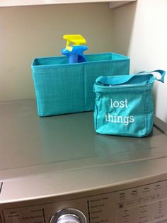 """Your Way Rectangle for laundry supplies and Littles Carry-All Caddy for """"lost things"""" found in the wash.  www.mythirtyone.com/tcwoolley"""
