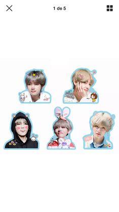 Tumblr Stickers, Diy Stickers, Printable Stickers, Bts Taehyung, Bts School, Kpop Diy, Bts Face, Bts Concert, Bts Merch