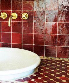 Terrakotta fliser Handmade tiles can be colour coordinated and customized re. shape, texture, pattern, etc. by ceramic design studios