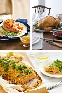 Recipe ideas for the Christmas table. Enjoy Traditional Roast Turkey or a Turkey Breast Fillet, or enjoy a platter of baked Salmon