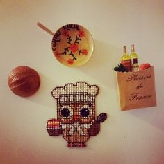the cutest chef ever. #crossstitch