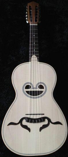 [ƒrettedchordophone 2014] Acousticmelo Viola Braguesa (Braguesa Guitar)--- https://www.pinterest.com/lardyfatboy/