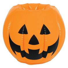 """Inflatable Jack-O-Lantern Cooler 22""""W x 18""""H holds apprx 48 12-Oz cans - 00018  www.logosurfing.com (800) 728-7192"""