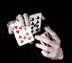 The core sleight of hand for card magic tricks