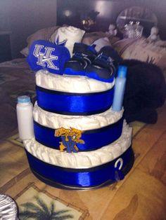 Kentucky Wildcats Diaper Cake