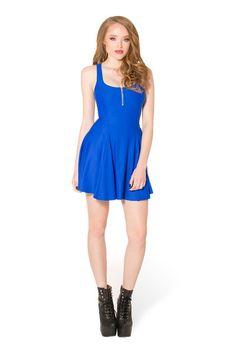 Matte Royal Blue Evil Zip Dress › Black Milk Clothing size m?