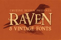 Raven Typeface by Cruzine on @creativemarket