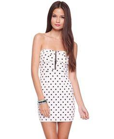 Polka Dot Bowline Dress - Club Dresses - 2076806799 - Forever21 - StyleSays