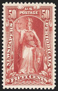 United States, 50¢, Newspaper/Periodicals Stamp : : Sc# PR107