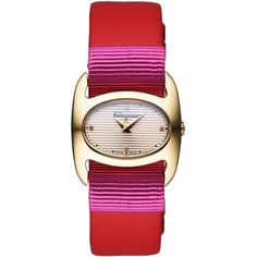 Salvatore Ferragamo Wrist Watch ($886) ❤ liked on Polyvore featuring jewelry, watches, red, salvatore ferragamo jewelry, salvatore ferragamo, red jewelry, salvatore ferragamo watches and animal jewelry