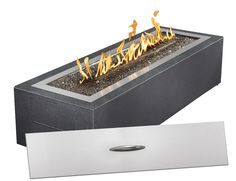 Have to have it. Napoleon Linear Patio Flame - $1299 @hayneedle. Also comes with different colored crystals!