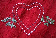 Heart embroidery by Judy Hartman
