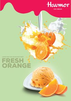 Feel the sweet explosion of Fresh Orange Ice cream, the  fabulous Flavour Of The Month.