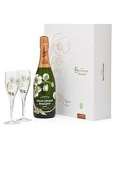 Perrier Jouët Champagne #GiftSet with matching flutes, $225.00 #champagne #gifts #1877spirits