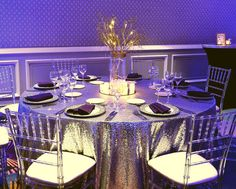 sequin table cloth Sequin Tablecloth, Table Settings, Sequins, Table Decorations, Ideas, Home Decor, Decoration Home, Room Decor, Place Settings