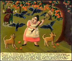 Mexican-Exvoto-retablo-ex-voto-Dogs-and-birds
