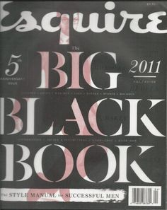 Esquire magazine Big Black Book Mens fashion Style manual Clothes Watches Cars